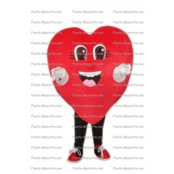 Buy cheap Red heart mascot costume.