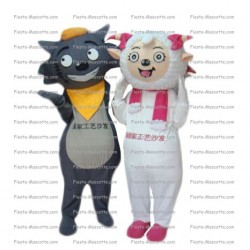 Buy cheap Sheep cat mascot costume.