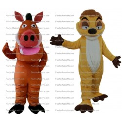 Buy cheap Pumba drawbar mascot costume.
