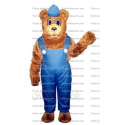 Buy cheap Bear overalls mascot costume.